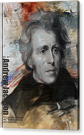 Andrew Jackson Acrylic Print by Corporate Art Task Force