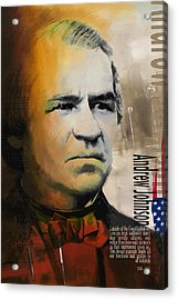 Andrew Johnson Acrylic Print by Corporate Art Task Force