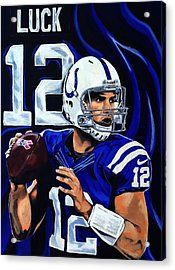 Andrew Luck Acrylic Print by Chris Eckley