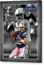 Andrew Luck Colts Acrylic Print