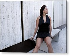 Andria 3 Acrylic Print by David Miller