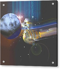 Android Cosmic Commuter Acrylic Print by Nate Owens