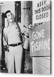 Andy Griffith In The Andy Griffith Show Acrylic Print by Silver Screen