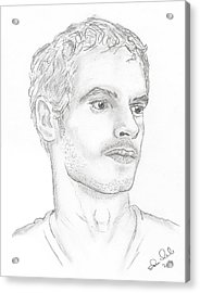 Andy Murray Acrylic Print by Steven White