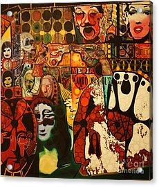 Andy Warhol Tribute 58  Acrylic Print by Michael Kulick