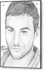 Andy Whitfield  Acrylic Print by Saki Art