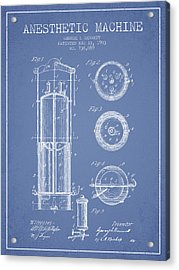 Anesthetic Machine Patent From 1903 - Light Blue Acrylic Print by Aged Pixel
