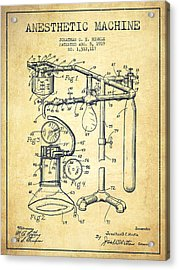 Anesthetic Machine Patent From 1919 -vintage Acrylic Print by Aged Pixel