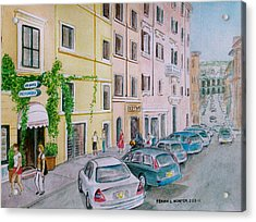 Anfiteatro Hotel Rome Italy Acrylic Print by Frank Hunter