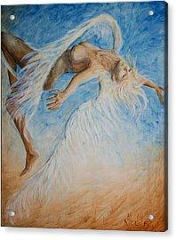 Angel Blu Drifter Acrylic Print by Nik Helbig