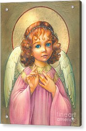 Angel Child Acrylic Print by Zorina Baldescu