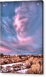 Angel Cloud Acrylic Print by Dave Garner