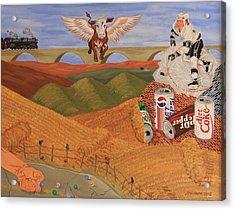 Angel Cow Acrylic Print by Mike Nahorniak