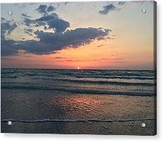 Angel Dolphin Sunset Acrylic Print