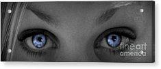 Angel Eyes Acrylic Print by Janice Westerberg