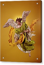 Angel, From The Christmas Creche And Tree Terracotta & Cloth Acrylic Print by Neapolitan School