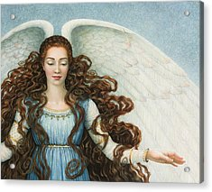 Angel In A Blue Dress Acrylic Print