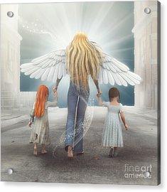 Angel In Blue Jeans Acrylic Print by Jutta Maria Pusl