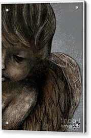 Angel In Pencil Acrylic Print