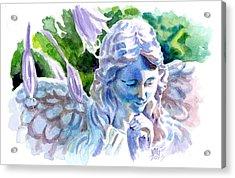 Angel In Stone Acrylic Print by Ken Meyer jr