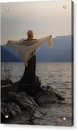Angel In Sunset Acrylic Print by Joana Kruse
