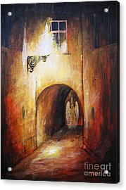 Angel In The Alley Acrylic Print by Dariusz Orszulik