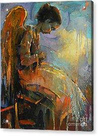 Angel Meditation Acrylic Print by Michal Kwarciak