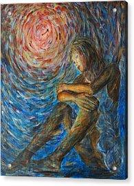 Angel Moon I Acrylic Print by Nik Helbig