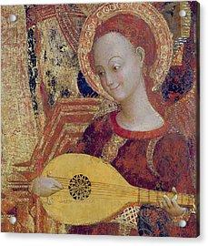 Angel Musician Acrylic Print by Sassetta
