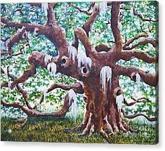 Acrylic Print featuring the painting Angel Oak by Melissa Sherbon
