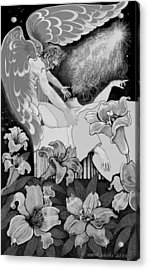 Acrylic Print featuring the digital art Angel Of Death Vision by Carol Jacobs