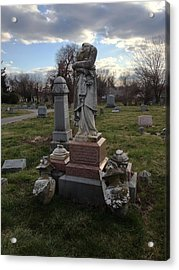 Angel Of Eastern Cemetery Acrylic Print by Andrew Martin
