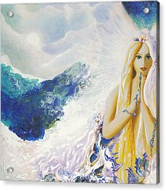 Angel Of Peace Acrylic Print by Valerie Graniou-Cook