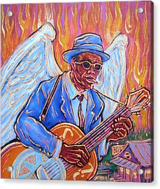Angel Of The Blues Acrylic Print by Robert Ponzio
