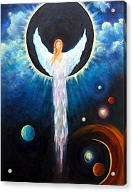Angel Of The Eclipse Acrylic Print by Marina Petro