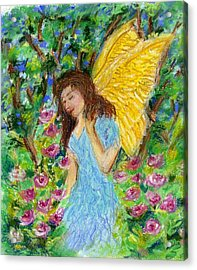 Angel Of The Garden Acrylic Print