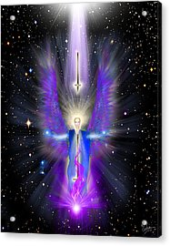Angel Of The Violet Flame Acrylic Print