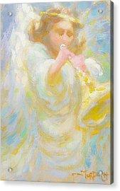 Angel Playing Lovesong Acrylic Print by John Murdoch