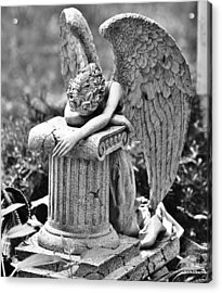 Angel Prays Acrylic Print by Al Fritz