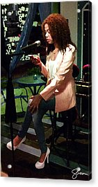 Angel Reciting Poetry Acrylic Print by Shawn Lyte