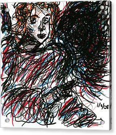 Angel Sketch Acrylic Print by Rachel Scott
