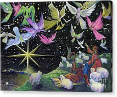 Acrylic Print featuring the painting Angel Skies by Nancy Cupp