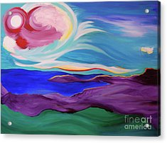 Acrylic Print featuring the painting Angel Sky by First Star Art