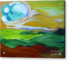 Angel Sky Green By Jrr Acrylic Print by First Star Art