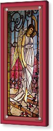Angel Stained Glass Window Acrylic Print by Thomas Woolworth
