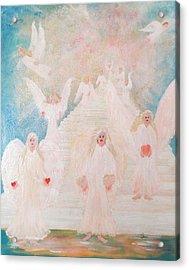 Angel Stairway Acrylic Print by Karen Jane Jones