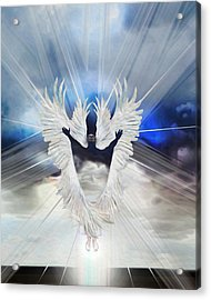 Angel Storm Acrylic Print by Ron Cantrell