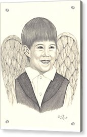 Acrylic Print featuring the drawing Angel Too by Patricia Hiltz