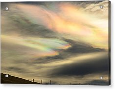 Angel Wings In Rainbow Clouds Acrylic Print