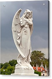 Angel With Cross Acrylic Print by Terry Reynoldson